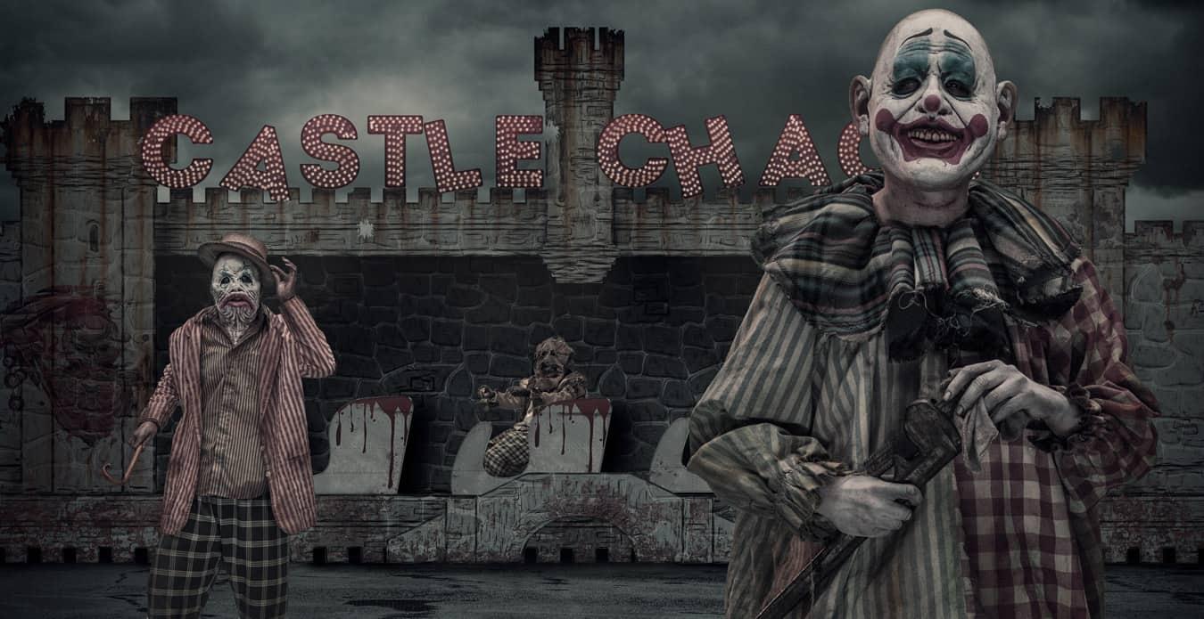 Knotts Scary Farm Castle Chaos Scary Clowns & Gore