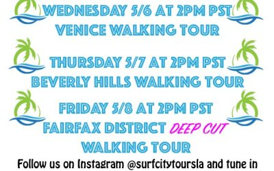 Virtual Tour Schedule For the Week of 5/4/2020